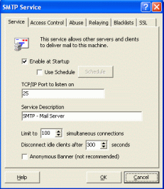 SMTP Server in the Mailtraq email server